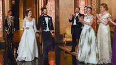 Auf dem Weg zum Hochzeitswalzer - ob die beiden sehr nerv�s waren?