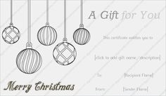 Merry christmas gift certificate template merrychristmas get beautifully designed jolly simple christmas gift certificate template from our premium certificates collection all pronofoot35fo Images