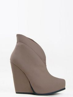 Qupid Collared Wedge Ankle Bootie | Fall Shoes | Shop Women's Missy & Plus Size Clothing