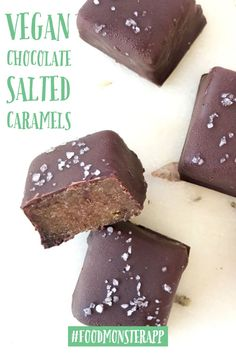 Check out this awesome vegan, plant-based, simple recipe on the Food Monster App! And don't forget to pin to your favorite board! Raw Desserts, Vegan Dessert Recipes, Whole Food Recipes, Cooking Recipes, Healthy Vegan Snacks, Vegan Treats, Vegan Food, Sin Gluten, Vegan Candies