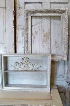 Ornate wall shelf and frame set French by AnitaSperoDesign on Etsy, $230.00