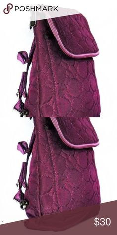 63f7e287133 Thirty One Vary You BackpackPurse QuiltedDots Plum Multiple Colors