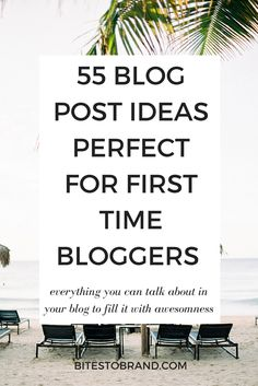 55 Blog Post Ideas Perfect for First Time Bloggers! Make your blog pop with all these content ideas. This list is jam packed with everything you can write in your blog to fill it with awesome content!