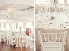 love the white chiavari chairs.