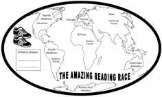"""""""Amazing Reading Race"""" What a great way to get students excited about reading.  It also introduces them to each of the different genres."""