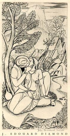 The Golden Cockerel Rubaiyat of Omar Khayyam, plate 6 (of 8) by John Buckland Wright