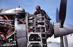 The Pratt & Whitney R-2800 Double Wasp is a twin-row, 18-cylinder, air-cooled radial aircraft engine with a displacement of 2,800 in³ (46 L), and is part of the long-lived Wasp family.  The R-2800 is considered one of the premier radial piston engines ever designed and is notable for its widespread use in many important American aircraft during and after World War II.