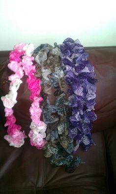 Lovely ruffle scarfs