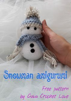 Free crochet pattern. Snowman amigurumi