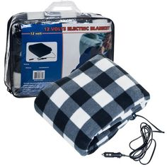 Automotive Heated Electric Travel Cold Weather Electric Pads,Plaid,Black+red Electric blanket 12V Car Electric Heating Blanket LIBINA