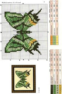 GRAPHICS FREE CROSS POINT: BUTTERFLIES (24)