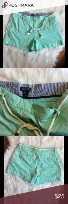 Women's Aqua Chino Shorts with Rope Belt Excellent used condition, perfect for summer.  All sales final. British Khaki Shorts
