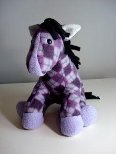 Purple argyle horse Funky Friends Factory pattern