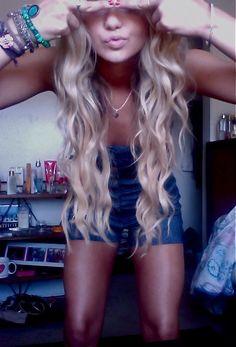 Long blonde hair...want..