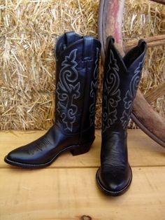 Black cowboy boots