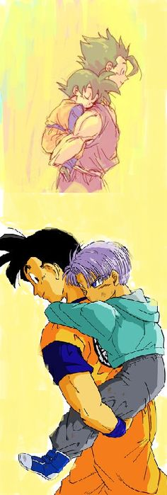 Gohan is an amazing big brother no matter what timeline it is ^^  Plus, he was a way better father figure than vegeta to trunks imo