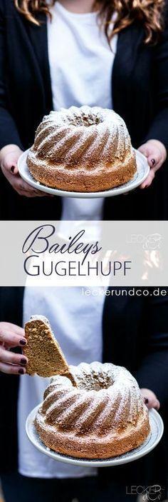 Cake Recipes Baileys Gugelhupf Ingredients: 250 g soft butter 200 g sugar pinch salt 5 eggs . No Bake Chocolate Desserts, No Bake Desserts, Dessert Recipes, Sweets Cake, Cupcake Cakes, German Baking, Sweet Bakery, Nutella Recipes, Pound Cake Recipes