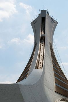 Olympic Stadium Tower, Montreal, Quebec, Canada by Todd MacNinch Quebec Montreal, Montreal Ville, Quebec City, Amazing Architecture, Modern Architecture, Toronto, Voyage Canada, Cheap Travel Insurance, Canadian Travel