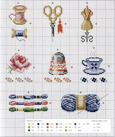 Sewing Cross-Stitching Charts