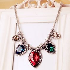 Exquisite Colored Faux Crystal Pendant Alloy #Necklace For Women     #accessories http://to.faearch.me/1DTe9kc