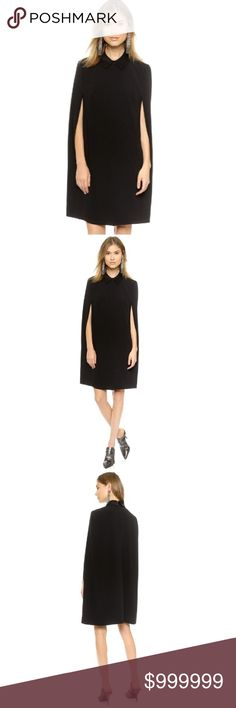 ✨Coming Soon!✨ Sleek Black Cape Dress! Pre-order now!  Can get S, M, L, XL!  Will cost $39. Boutique Dresses Mini