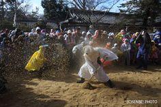 廣瀬神社 砂かけ祭 - 奈良県河合町
