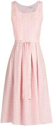 Shop for HVN Jordan gingham sleeveless dress at ShopStyle.com