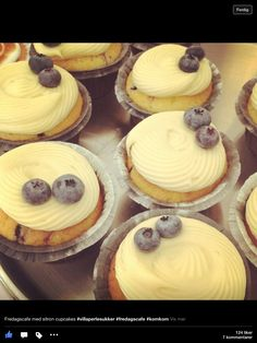 Blåbærmuffins<3