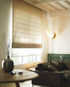 すっきりしたシェードカーテンイメージ Scandinavian Curtains, Types Of Curtains, Cute House, Shades Blinds, Roman Blinds, My Dream Home, New Homes, Minimalist, Room Decor