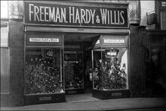 FREEMAN HARDY AND WILLIS  Gracious, the fights my Mum and I had in shoe shops.  I hated the clunkers. ;-)
