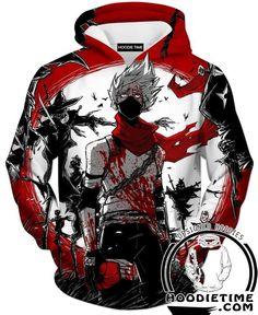 Bloody Kakashi Hoodie - Naruto Hoodies - Double Printed Clothing