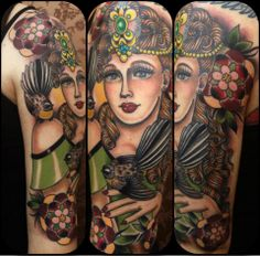 Rose Hardy is a painter and tattoo artist working at Kings Avenue Tattoo in New York City. Rose Hardy, American Traditional, Artist At Work, Tattoo Artists, My Girl, Skull, Ink, Fine Art, Tattoos