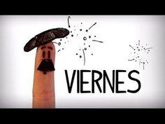 Días de la semana en español, aprender vocabulario básico español - YouTube