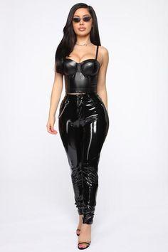Say You'll Be Mine Corset - Black – Fashion Nova Classy Outfits, Sexy Outfits, Latex Corset, Vinyl Clothing, Mexican Fashion, Loungewear Set, Sexy Latex, Fashion Nova Models, Leather Leggings