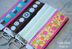 how to make a wristlet key fob - I'm ready for a new one.