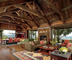 This Napa Valley home has one of the coolest ceilings I've seen.