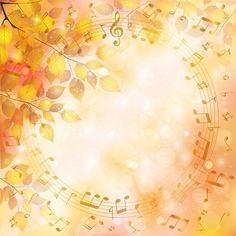 FALL...NOTES and Leaves...Musical Britney Notes de musique sur fond couleur d'automne