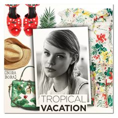 """Welcome to Paradise: Tropical Vacation V"" by vampirella24 ❤ liked on Polyvore featuring Caroline Constas, Dolce&Gabbana, Yves Saint Laurent and Nika"