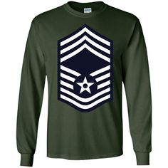 Air Force Chief Master Sergeant Rank-01 LS Ultra Cotton Tshirt