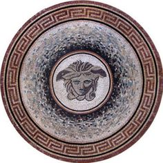 Versace Medallion Mosaic Pattern Tile Stone Art Floor #Mozaico