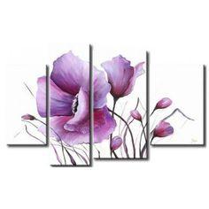 cuadro flores amapola 918