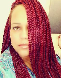 Crochet Box Braids Red : ... hair on Pinterest Box braids, Crochet braids and Box braids bob