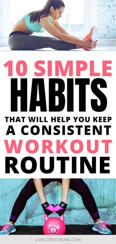 If you are struggling to stay consistent with your workout routine then you will benefit from these 10 simple habits that will help you live a healthier lifestyle every day. These easy to follow healthy habits for women will help give you a jump start in the right direction when it comes to achieving your fitness goals. Use these workout tips for women everyday so you can get fit and healthy this year. #workout #healthy #workoutroutine #workoutplan #healthyhabits #fitnesstips #workouttips Healthy Lifestyle Motivation, Healthy Lifestyle Tips, Health Motivation, Women Lifestyle, Fitness Tips For Women, Health And Fitness Tips, Fitness Goals, Healthy Women, Get Healthy