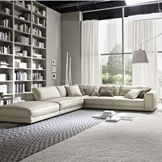Minerale Contemporary Leather Italian Corner Sofa - Amode.co.uk