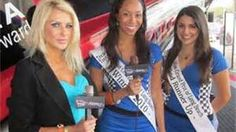 2010 Tecate Light Miss Toyota Grand Prix of Long Beach and Runner-up being interviews by RealFilms TV