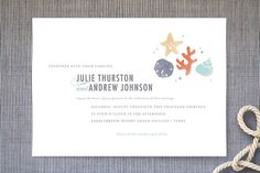 The Shore Wedding Invitations by Kristen Smith at minted.com