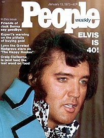 *PEOPLE MAGAZINE ~ Elvis Presley At 40: Elvis the pelvis Presley Turns the Big 4-0, but that doesn't mean he's all Shook Up.