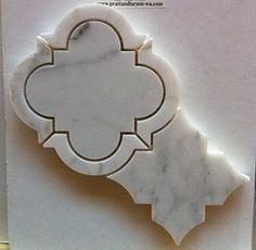 marble quatrefoil tile |  pratt & larson tile and stone