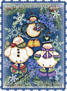 CC160 Wynter Friends Ornaments Painting E por CyndiCombsDesigns