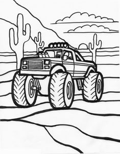 download grave digger monster truck coloring pages printable ... - Monster Truck Coloring Pages Free
